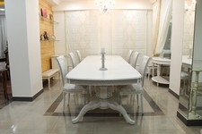 Стол Дунай, диван, кресла и банкетка Версаль - Стул Сибарит 27-31, стол Альт 84-11.